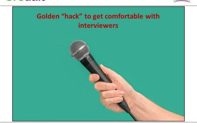 """Golden """"hack"""" to get comfortable with interviewers"""