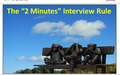 The 2 minutes interview rule