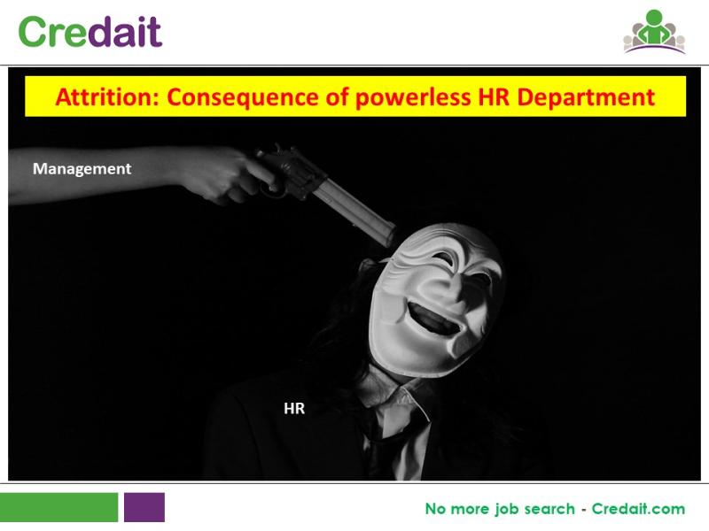 Attrition: Consequence of powerless HR Department