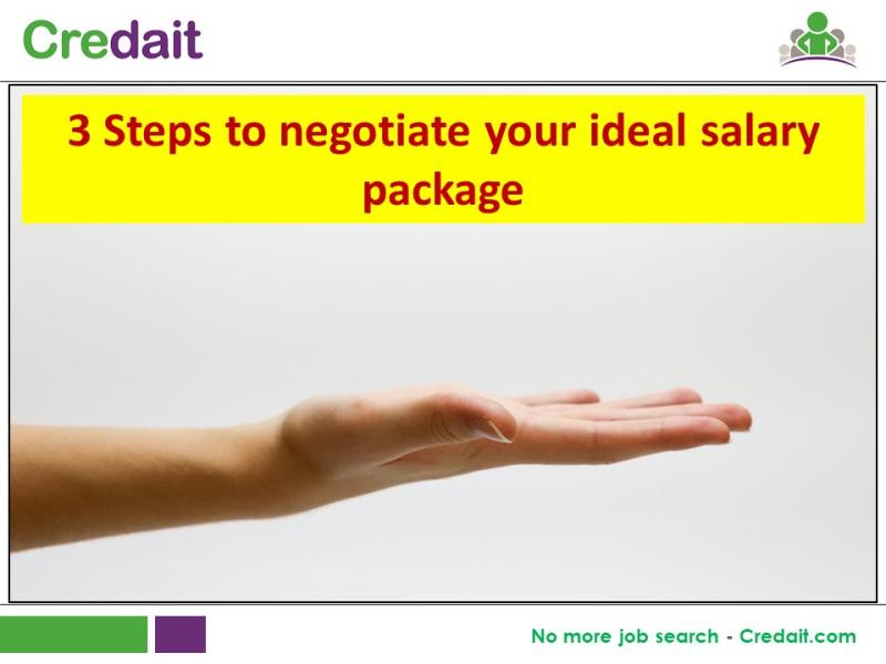 3 Steps to negotiate your ideal salary package