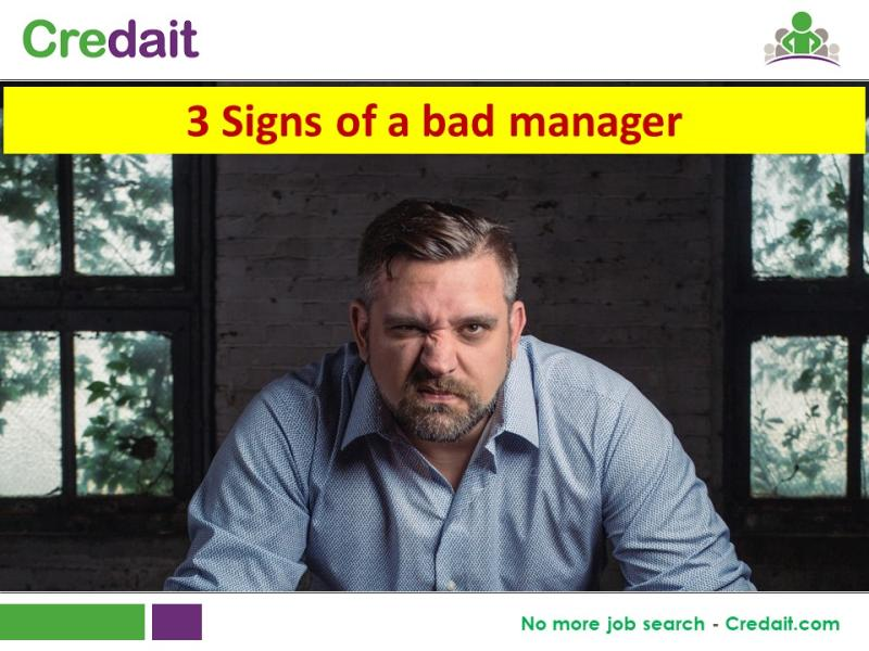 3 Signs of a bad manager