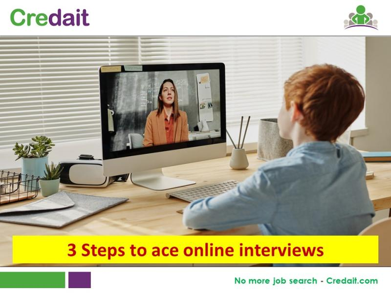 3 Steps to ace online interviews