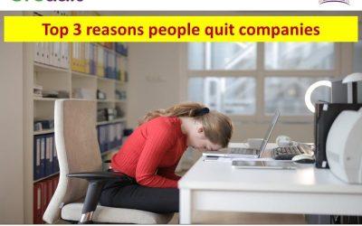 Top 3 reasons people quite companies