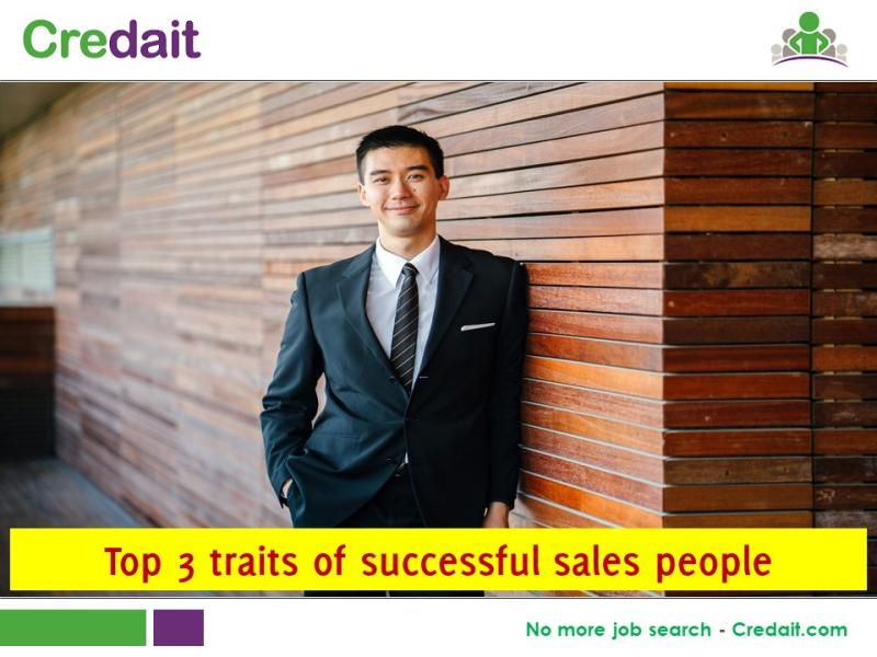 Top 3 traits of successful sales people