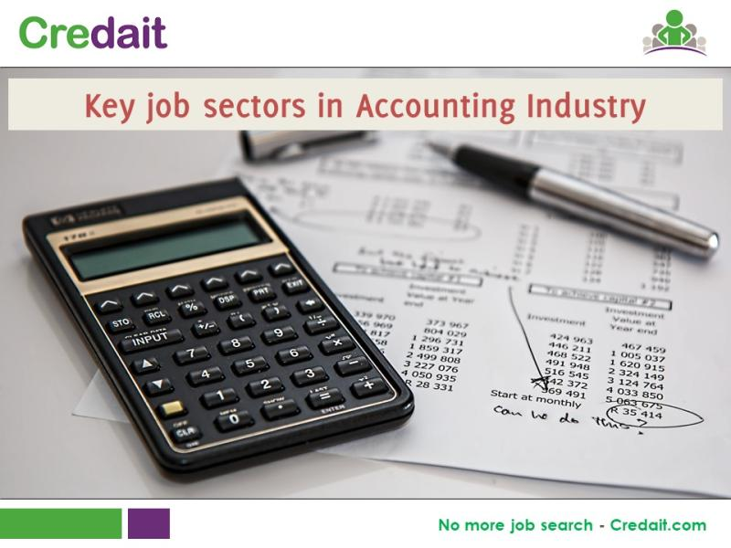 Key job sectors in Accounting Industry