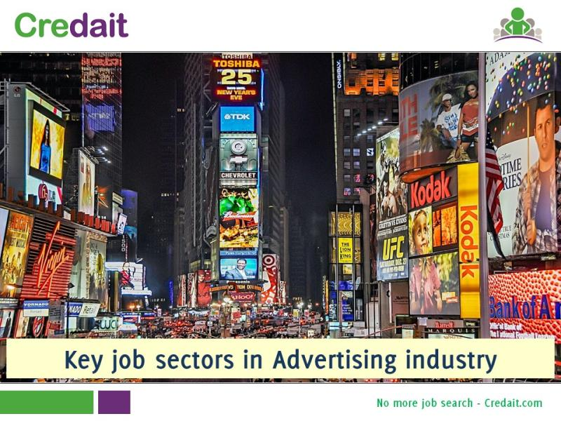 Key job sectors in Advertising industry