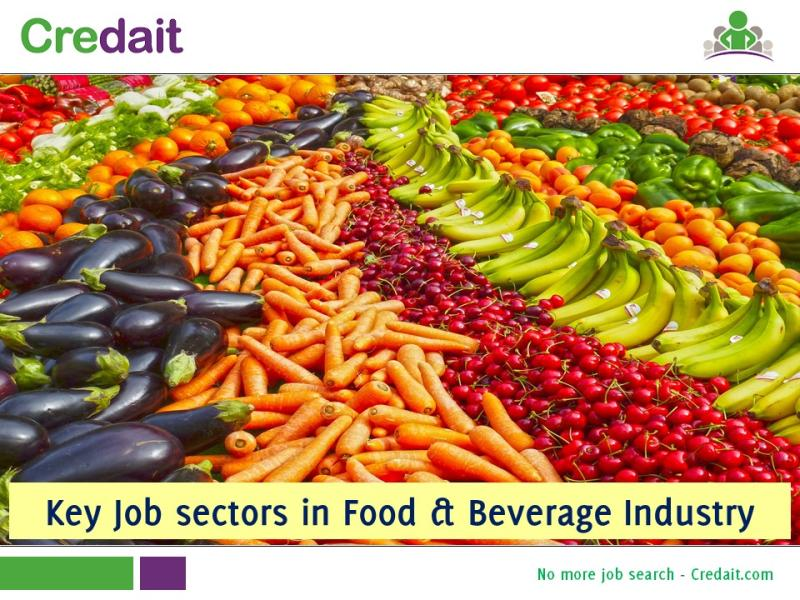 Key job sectors in Food & Beverage Industry