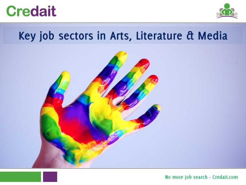 Key job sectors in Arts, Literature & Media