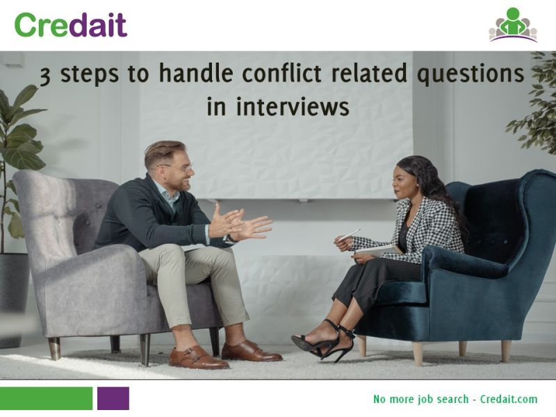 Steps to handle conflict related questions in interviews